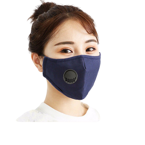 Anti Flu Virus Masks With Breathing Valve 95 Filtration 5 Layer Bacteria Proof Mouth Masks Anti-Dust Air Filter Respirator