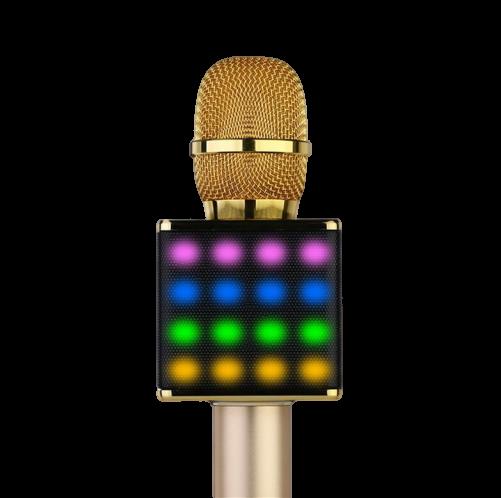 Wireless Portable Karaoke Microphone H8 with LED Light Speaker Bluetooth Machine for Smartphone Perfect Home KTV Karaoke Singing