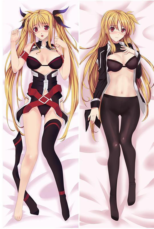 Magical Girl Lyrical Nanoha Fate Testarossa Harlaown Anime Dakimakura Character Body Pillow