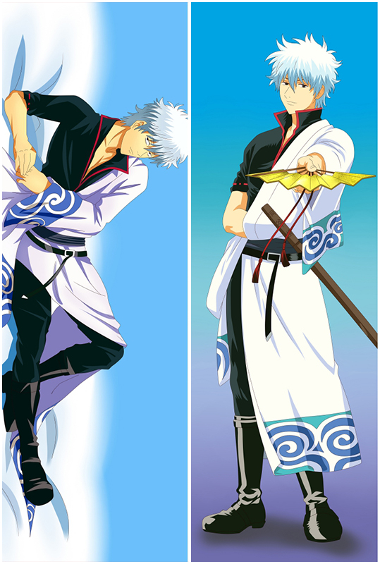Gin Tama Sakata Gintoki Anime Dakimakura Hugging Body Pillow Cover