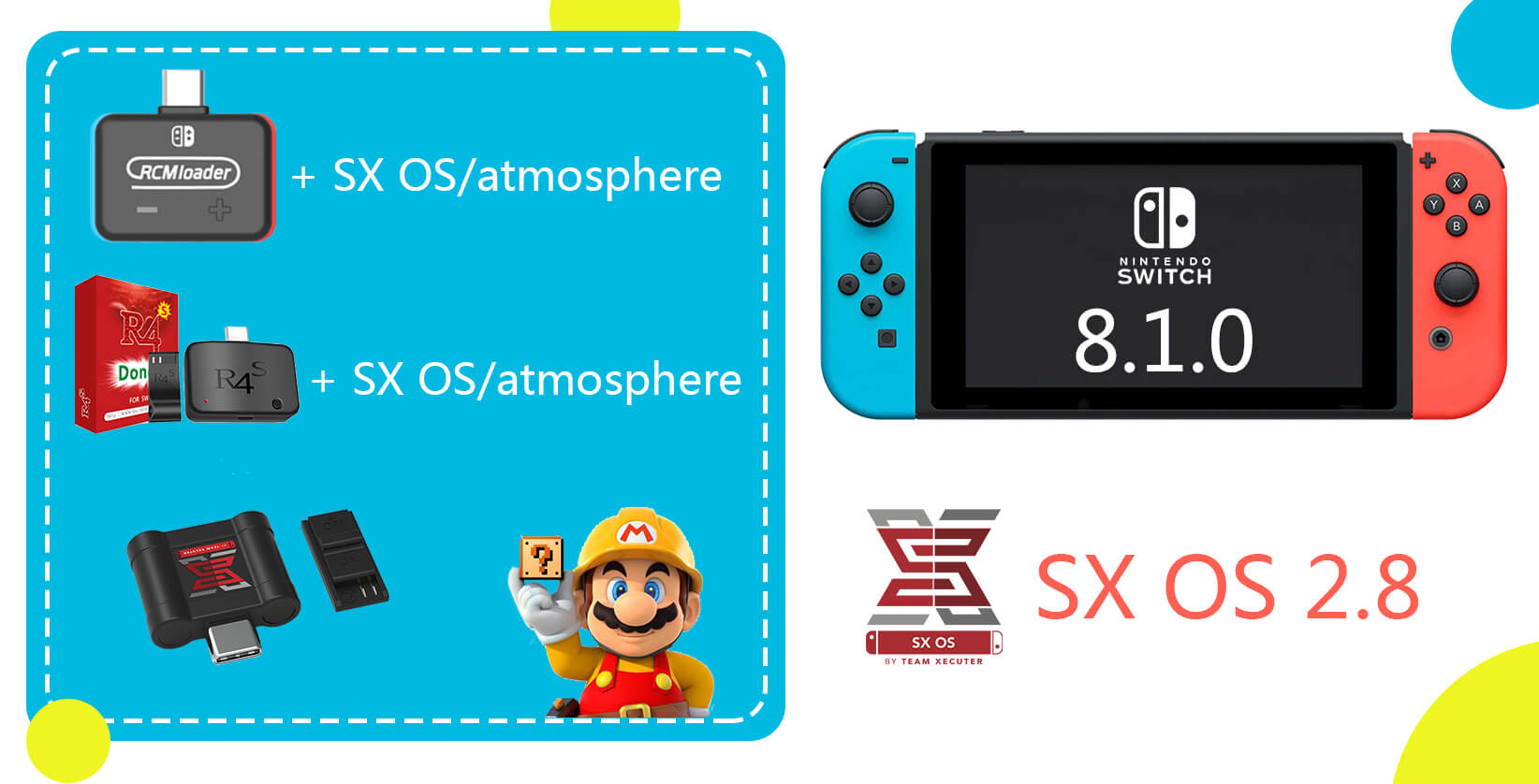 Confirmed: SX OS 2 8 can support Nintendo Switch 8 1 0