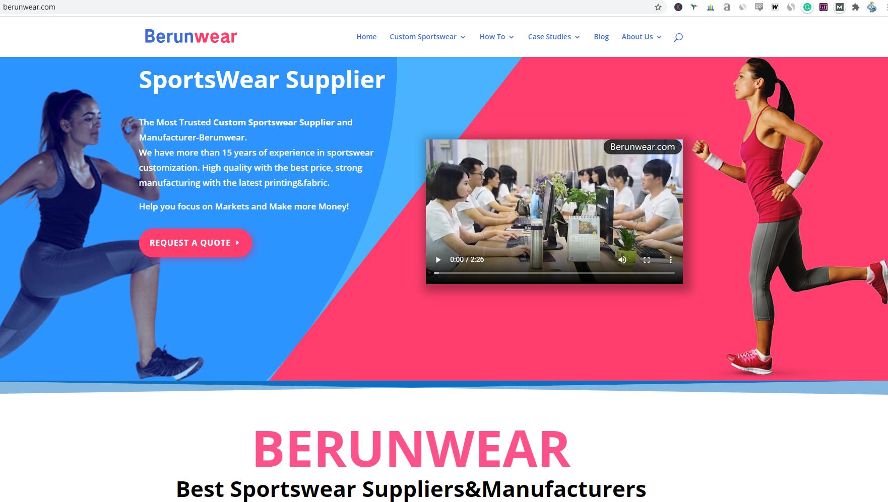 sportswear wholesale supplier