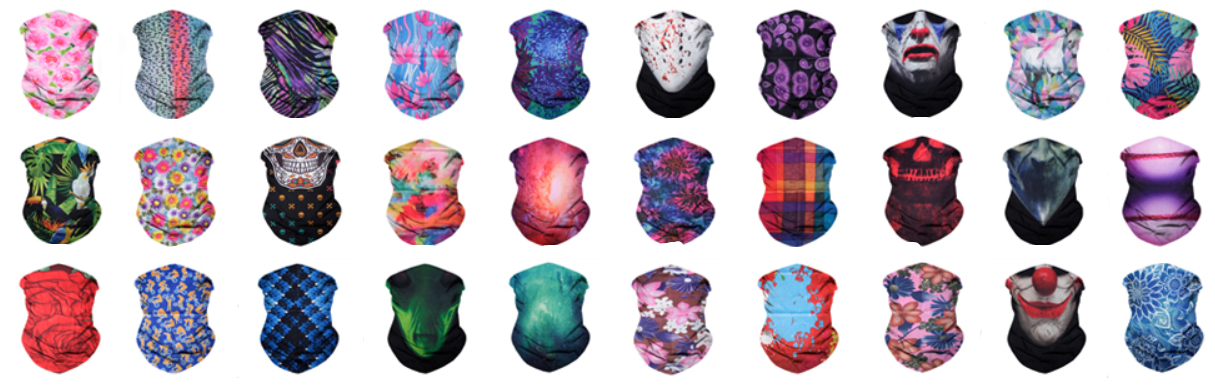 Custom Imprintable Neck Gaiter Masks
