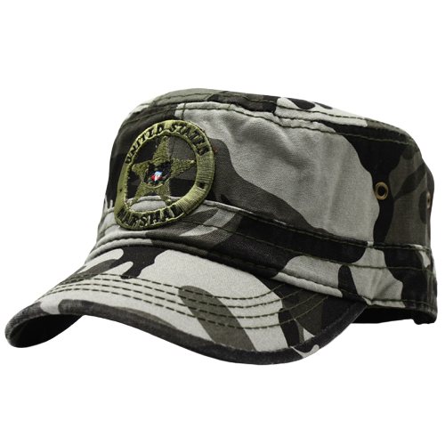 LIBERWOOD US Marshal Eagle Cotton Flat Top Tactical hat Embroidery United States Marshal Camo Camouflage Cap Men Army Hats