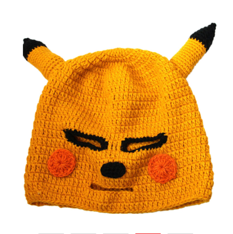 Funny Animal Cap Novelty Pikachu Hats Gag Party Masks Beanies Halloween Birthday Cool Gifts