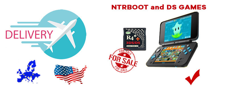 R4i gold 3ds plus supports NTRboot and DS games on any 3DS/2DS/NEW